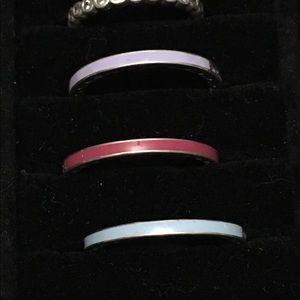 Pandora Cz enamel pink ring size 9
